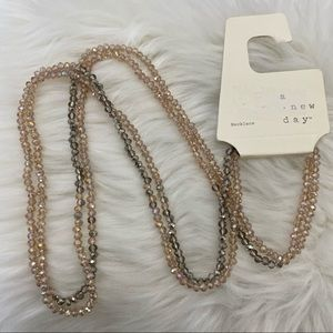 4/$20 A New Day Pink Gray Single Strand Necklace